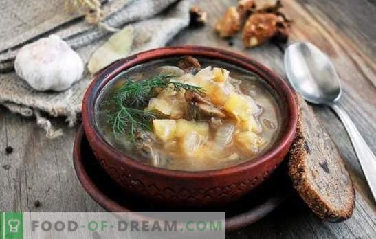 Sopa quaresmal - para jejum e dietas são boas! As melhores receitas tradicionais e originais de sopa de carne magra sem carne e gordura animal