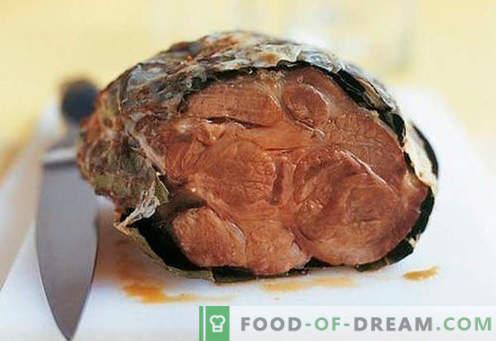 Presunto assado no forno - as melhores receitas. Como corretamente e saboroso presunto cozido no forno em casa.