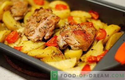 Frango assado com batatas - as melhores receitas. Como corretamente e saboroso cozinhar frango assado com batatas.
