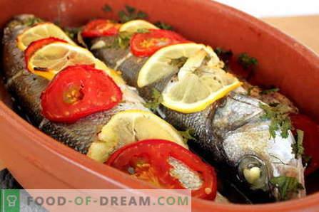 Peixe assado no forno - as melhores receitas. Como cozinhar peixe no forno.