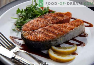 Filé de salmão - as melhores receitas. Como corretamente e saboroso cozinhar bife de salmão.