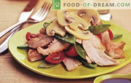 Salada com frango em conserva - ainda mais sabor e sabor! As melhores receitas para saladas com frango em conserva: simples e puff