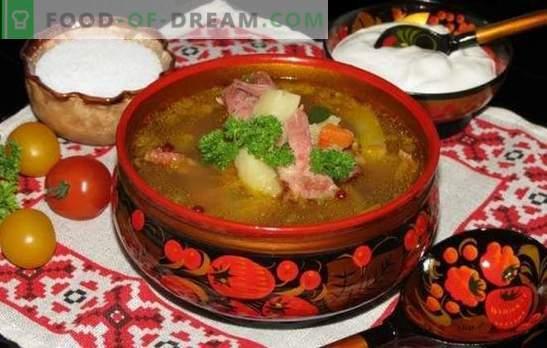 Sopa de arvejas con costillas ahumadas: un sabor familiar desde la infancia. Recetas de sopa de guisantes con costillas ahumadas
