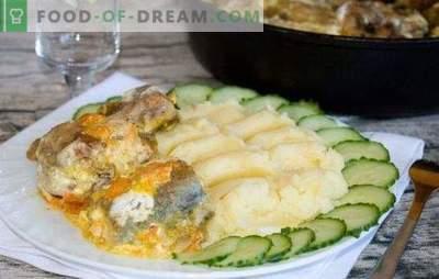 Pollock com cenoura e maionese no forno - quase uma iguaria! Receitas simples de pollock com cenoura e maionese no forno