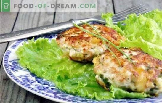 Costeletas de peito de frango picadas: o básico das tradições culinárias. Receitas de peito de frango picado para todos os gostos