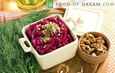 Deleite útil - salada de beterraba com alho. Receitas clássicas e novas para salada de beterraba com alho