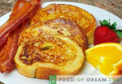 Toast alle uova: le migliori ricette. Come cucinare correttamente e gustosi crostini con l'uovo.