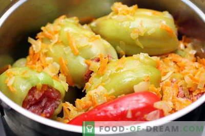 Pimentão recheado - as melhores receitas. Como corretamente e cozinhar pimentos recheados.