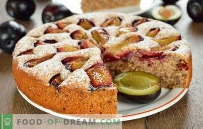Torta com ameixas - uma não será suficiente! Uma seleção de bolos diferentes com ameixas de levedura, shortbread, massa folhada e massa líquida