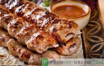 Kebab de cordeiro - uma alternativa maravilhosa ao kebab! Receitas de cordeiro kebab de cordeiro na grelha, em uma panela e no forno