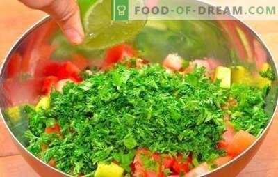Salada com suco de limão - uma deliciosa variedade de vitaminas! Receitas para saladas saudáveis, temperadas com suco de limão