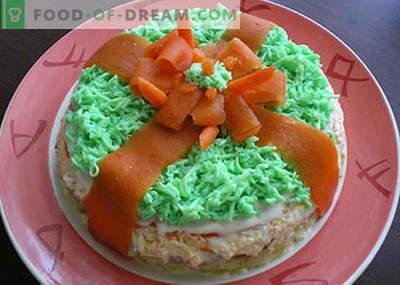Saladas de aniversário para crianças - as cinco receitas principais. Como corretamente e saboroso preparar saladas de aniversário de crianças.