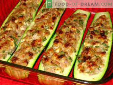 Abobrinha recheada com carne assada no forno, receitas culinárias