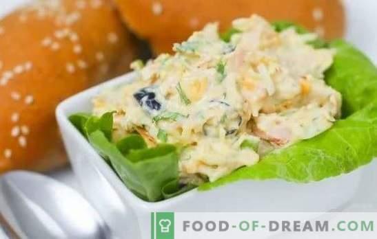 Salada de atum enlatada: uma receita passo-a-passo. Cozinhar lanche cancelar - salada com atum enlatado (passo a passo)