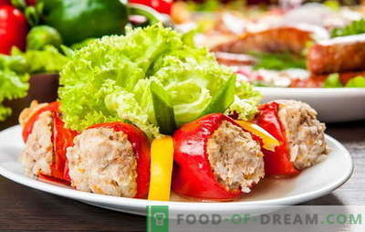 Pimentos recheados com carne e arroz - é uma ideia! Receitas recheio e derramando para pimenta recheada com carne e arroz