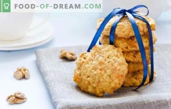 Как се правят овесени бисквити без добавяне на яйца? Нека печем овесени бисквити без яйца със семена, мед, конфитюр, ябълки