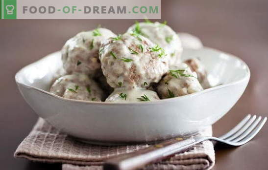 Para os amantes de almôndegas em molho cremoso: novas receitas. Como cozinhar almôndegas em um molho cremoso rapidamente e saboroso