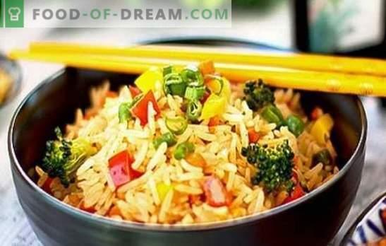 Arroz com legumes em um fogão lento - devorado pelas duas bochechas! Receitas para diferentes pratos de arroz com legumes em um fogão lento