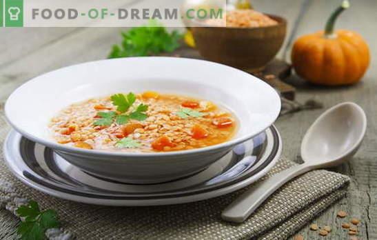 Sopa de lentilha vermelha - picante e picante. Receitas nacionais para sopas de lentilhas vermelhas saudáveis e não nutritivas