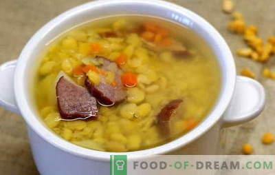 Sopa de ervilha com carne - simples e rica. As melhores receitas para sopa de ervilha com carne: simples e complexa