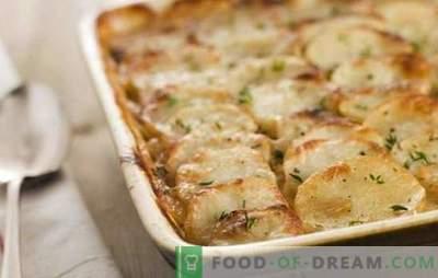 Batata com maionese no forno - pouco útil, mas incrivelmente simples e saborosa. As melhores receitas para batatas com maionese no forno