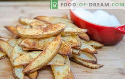 Крцкав компир во рерната - лесно! Рецепти вкусни и крцкави компири во рерната: во рустикален, шведски, итн