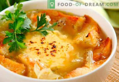 Sopa de cebola francesa - receitas comprovadas. Como corretamente e saboroso cozinhar sopa de cebola francesa.