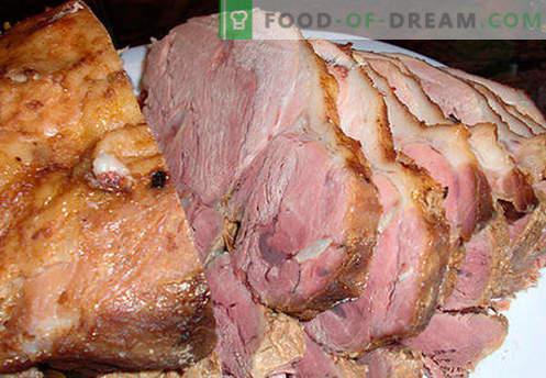Presunto de porco - as melhores receitas. Como corretamente e saboroso cozinhar presunto de porco em casa.
