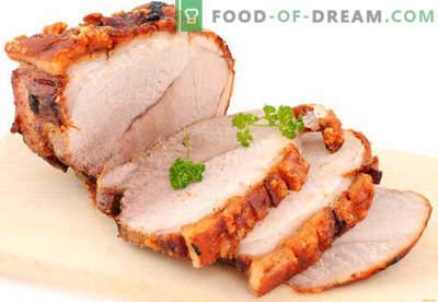 Prosciutto di maiale - le migliori ricette. Come cucinare correttamente e gustoso il prosciutto di maiale a casa.