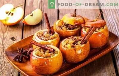 Asse as maçãs com mel e canela no forno - de alegria! Maçãs assadas com mel e canela em casa de cozimento