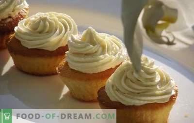 Choux curd cream - слатки можат да бидат корисни! Најдобриот рецепт за пудра крем и десерти со него