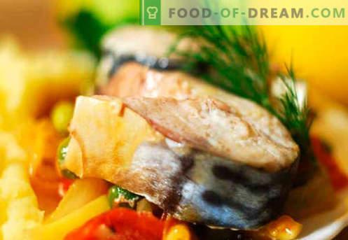 Cavala com legumes - as melhores receitas. Como corretamente e saboroso cavala com legumes.