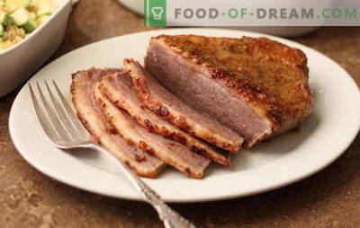 Carne na mostarda - perfumada, caseira, picante. Carne assada e assada na mostarda: com vinho, mel, maionese