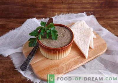Patê para o inverno - as melhores receitas. Como preparar corretamente e deliciosamente os patês para o inverno.