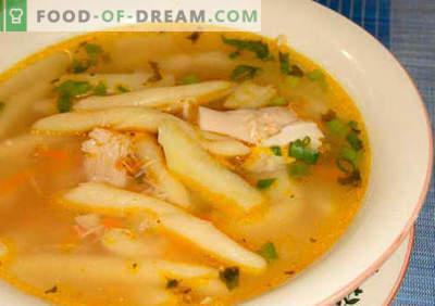 Sopa de macarrão - receitas comprovadas. Como corretamente e saboroso cozinhar sopa com macarrão.