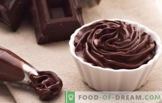 Ganache de chocolate para cobrir o bolo - receitas e culinária. Todas as regras e receitas de ganashes de chocolate para bolos