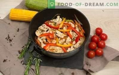 Fricassé com vegetais - uma variedade de ingredientes e sabores salgados. Receitas de fricassé com legumes: vegetariano, frango, peixe, com cordeiro ou porco.