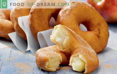 Donuts em casa - anéis inchados! Receitas para donuts caseiros com fermento, kefir, queijo cottage, leite condensado e recheados