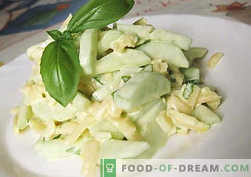 Salada de pepino com queijo - as melhores receitas. Como propriamente e saboroso preparar uma salada de pepinos com queijo