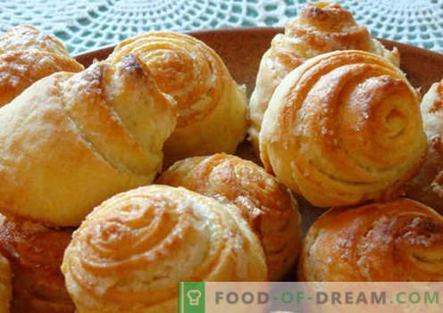 pães doces são as melhores receitas. Como corretamente e saboroso cozinhar pães doces em casa