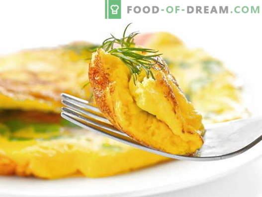 Omelete com leite - receitas comprovadas. Como cozinhar e fazer uma omelete com leite.