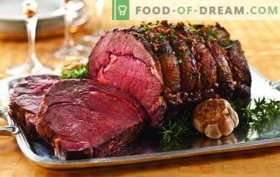 Deliciosos pratos de carne: mesa festiva gourmet. Ideias impecáveis de pratos de carne quente para momentos especiais da vida