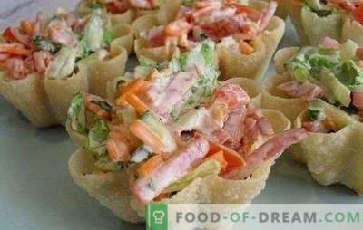 Salada com cenoura e salsicha - combinamos saborosa, saudável e bonita. As melhores receitas para saladas com cenoura e salsicha