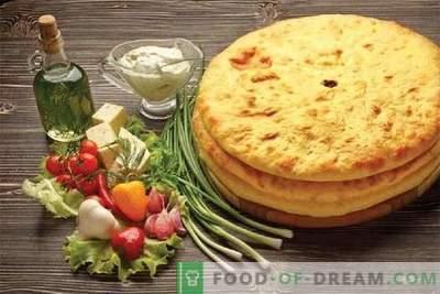 Tortas da Ossétia - as melhores receitas. Como corretamente e saboroso cozinhar tortas da Ossétia.