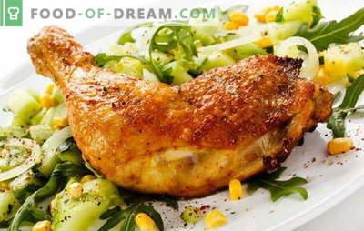 Pernas de frango fritas em uma panela - uma maneira clássica de cozinhar carne. Receitas fritas pernas de frango em uma frigideira com alho, tomate