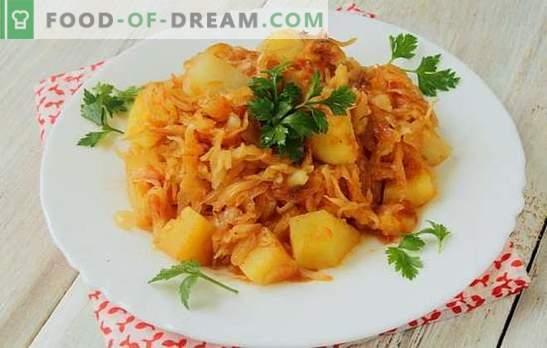 Repolho estufado com batatas e carne picada - um combo para quem gosta de comer. Um ensopado de legumes clássico com pressa!