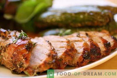 Carne de porco frita na panela - as melhores receitas. Como corretamente e saboroso cozinhar carne de porco assada.