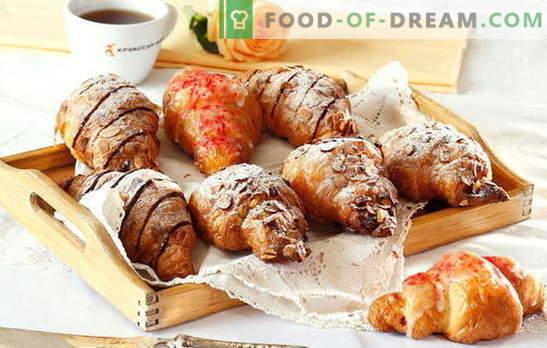 croissants de massa folhada - para baixo com a monotonia! As mais deliciosas coberturas doces e salgadas para croissants de massa folhada