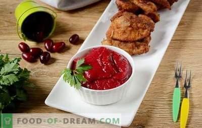 Hartriegel-Sauce: Ideal für Kebab! Wenn Mayonnaise, Ketchup und Tkemali die Nase voll haben - bereiten Sie die Cornel-Sauce vor (Fotorezept des Autors)