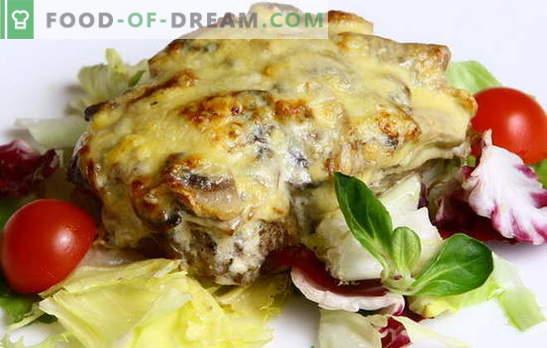 A carne do capitão é um prato com história! Várias receitas de carne ao estilo de capitão: com batatas, cogumelos, tomates, queijo